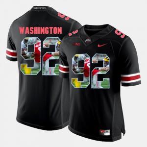 Adolphus Washington OSU Jersey #92 Mens Pictorial Fashion Black