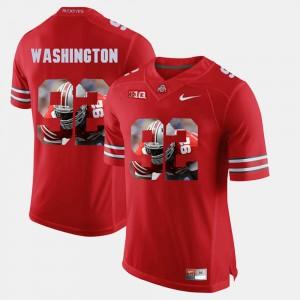 Adolphus Washington OSU Jersey Scarlet For Men's #92 Pictorial Fashion