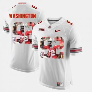 Adolphus Washington OSU Jersey Men's White Pictorial Fashion #92