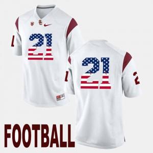 White Adoree' Jackson USC Jersey US Flag Fashion #21 Men
