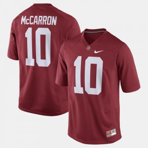 For Men's Alumni Football Game #10 A.J. McCarron Alabama Jersey Crimson