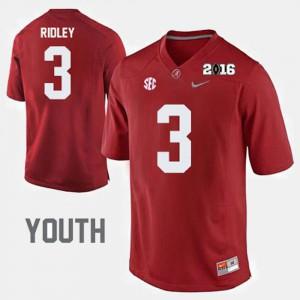 College Football Crimson Youth(Kids) Calvin Ridley Alabama Jersey #3