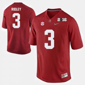 #3 College Football Crimson Calvin Ridley Alabama Jersey For Men's