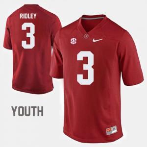 Kids #3 College Football Calvin Ridley Alabama Jersey Red