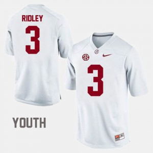 White College Football Calvin Ridley Alabama Jersey #3 Youth(Kids)