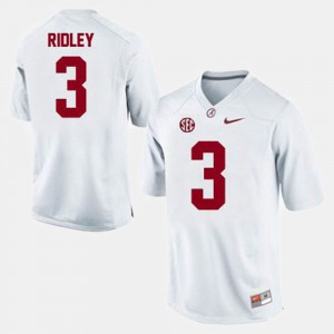 Calvin Ridley Alabama Jersey #3 For Men's College Football White