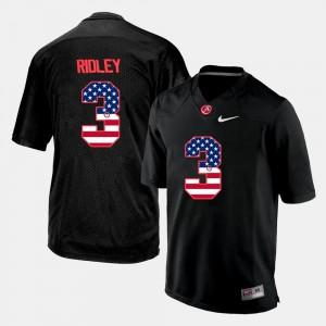 For Men US Flag Fashion #3 Calvin Ridley Alabama Jersey Black