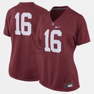 College Football Crimson Alabama Jersey Womens #16