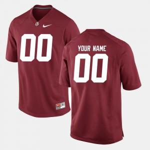 #00 Alabama Custom Jersey Crimson College Football Men