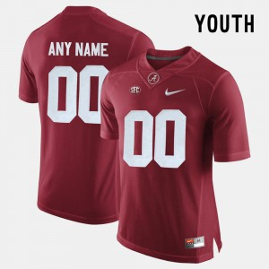 Crimson #00 Youth College Limited Football Alabama Customized Jersey