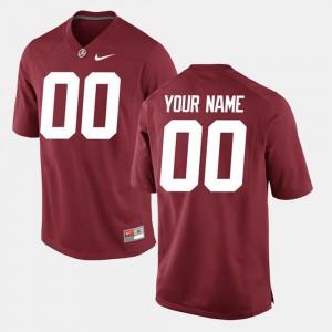 Men's Crimson Alabama Custom Jerseys College Limited Football #00