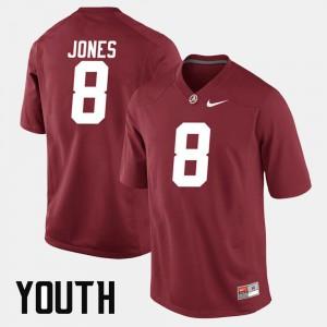 Crimson Julio Jones Alabama Jersey For Kids Alumni Football Game #8