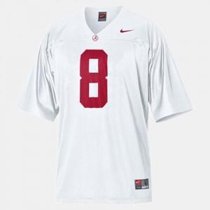 #8 College Football Kids White Julio Jones Alabama Jersey