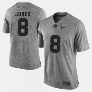 #8 Gray Mens Julio Jones Alabama Jersey Gridiron Limited Gridiron Gray Limited