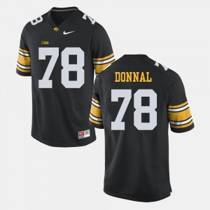 Andrew Donnal Iowa Jersey Alumni Football Game #78 Men Black