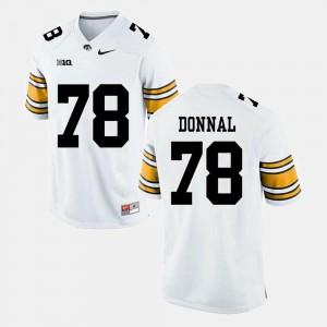 Alumni Football Game Men's Andrew Donnal Iowa Jersey White #78