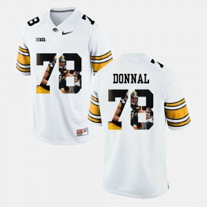 Andrew Donnal Iowa Jersey For Men's Pictorial Fashion #78 White