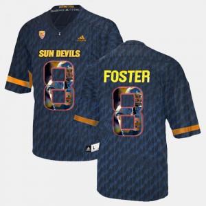 #8 D.J. Foster ASU Jersey Player Pictorial Black For Men