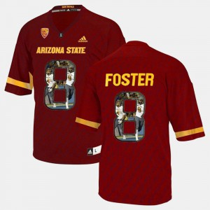 #8 Player Pictorial Red D.J. Foster ASU Jersey Mens