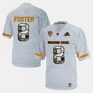 #8 D.J. Foster ASU Jersey Mens Player Pictorial White