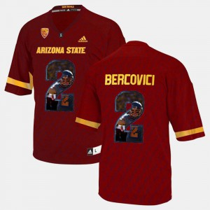Player Pictorial Red Mike Bercovici ASU Jersey For Men's #2