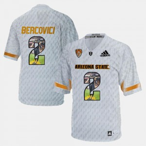 Mike Bercovici ASU Jersey #2 Player Pictorial For Men's White
