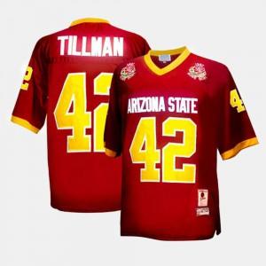 College Football Pat Tillman ASU Jersey Red For Men's #42
