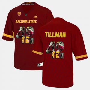 Mens Maroon Player Pictorial #42 Pat Tillman ASU Jersey