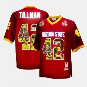 Pat Tillman ASU Jersey Throwback Men's Maroon #42