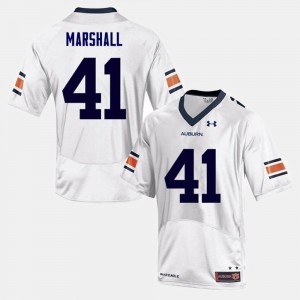 College Football #41 Men's White Aidan Marshall Auburn Jersey