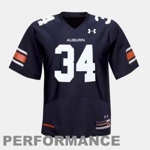 Bo Jackson Auburn Jersey #34 College Football Blue For Kids