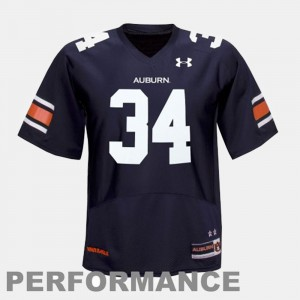 Men's College Football Blue #34 Bo Jackson Auburn Jersey