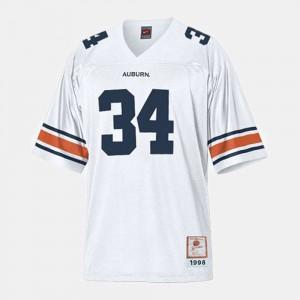 #34 Youth(Kids) College Football White Bo Jackson Auburn Jersey