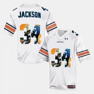 #34 Mens Bo Jackson Auburn Jersey White Throwback
