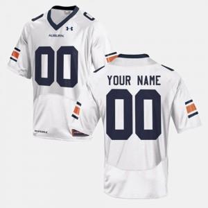 Mens College Football #00 Auburn Customized Jerseys White