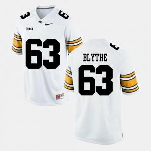 #63 Men Alumni Football Game Austin Blythe Iowa Jersey White