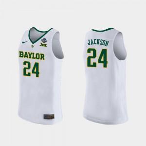 For Women's Chloe Jackson Baylor Jersey #24 2019 NCAA Women's Basketball Champions White
