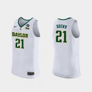Womens Kalani Brown Baylor Jersey White 2019 NCAA Women's Basketball Champions #21