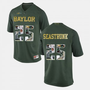 Mens Lache Seastrunk Baylor Jersey Player Pictorial #25 Green