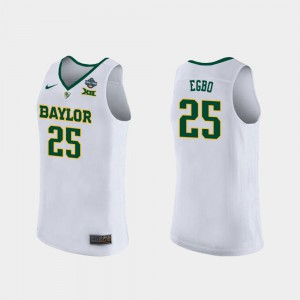 2019 NCAA Women's Basketball Champions Queen Egbo Baylor Jersey White #25 Ladies