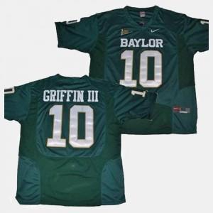Robert Griffin III Baylor Jersey Men #10 Green College Football