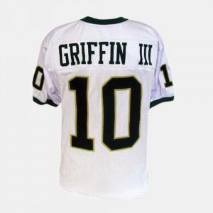 #10 Robert Griffin III Baylor Jersey White Men's College Football