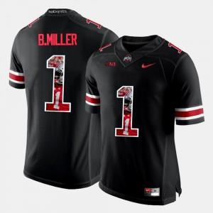 Black Braxton Miller OSU Jersey Pictorial Fashion #1 For Men