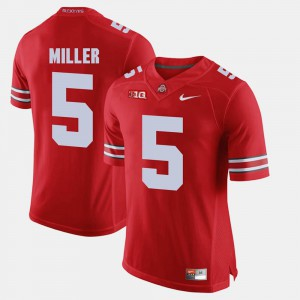 Mens #5 Scarlet Braxton Miller OSU Jersey Alumni Football Game