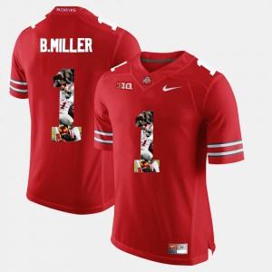 Braxton Miller OSU Jersey For Men's Pictorial Fashion Scarlet #1