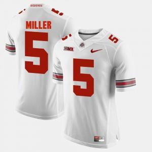 #5 Alumni Football Game For Men's White Braxton Miller OSU Jersey