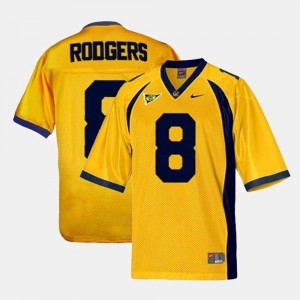 For Kids Gold #8 College Football Aaron Rodgers Cal Bears Jersey