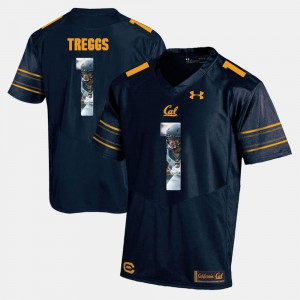 Bryce Treggs Cal Bears Jersey #1 For Men Navy Blue Player Pictorial