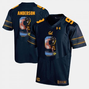 #9 Navy Blue Player Pictorial For Men's C.J. Anderson Cal Bears Jersey