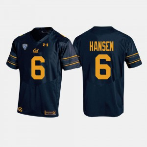 CHAD HANSEN Cal Bears Jersey College Football #6 For Men Navy